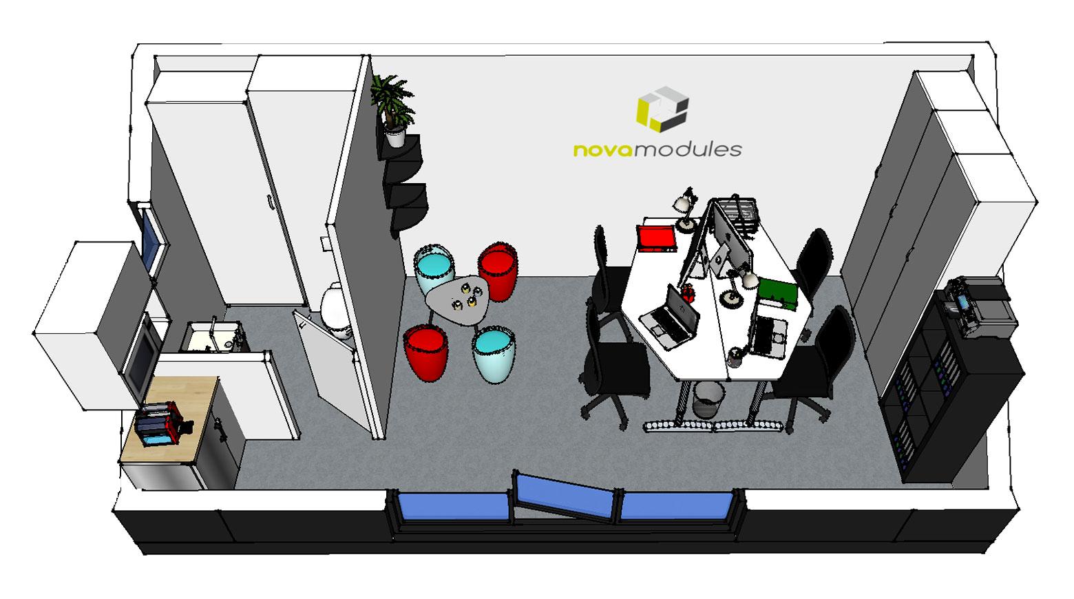 Nova Modules bureau de jardin module modulaire